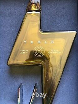 Empty Tesla Tequila Bottle With Stand & Box Collectible Limited Edition In Hand
