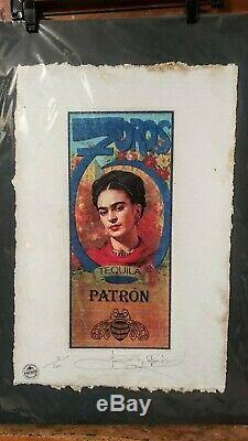 Frida Kahlo, Tequila Patron, Limited Edition Print, Signed Fairchild Paris