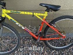 GT All Terra Ricochet Tequila Sunrise Rare Mountain Bike 18 Inch Shimano Exage