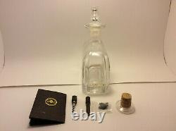 Gran Patron Burdeos Tequila Empty bottle, wooden display case, other accessories