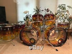 HUGE $500 PRICE DROP / Vintage'79 LUDWIG Tequila Sunrise Vistalite drum set