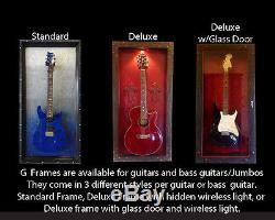 Handmade Tequila Sunrise Guitar/Bass Display Case gFrames