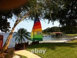 Hobie 16 Main and Jib Sails Tequila Sunrise Colors