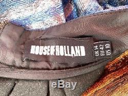 House Of Holland Tequila Skirt Women's 10 US 14UK Metallic Stripes High Waist