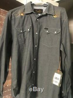 Howler Brothers Gaucho Snapshirt Western Tequila Sunrise Crosscut Rising Sun S