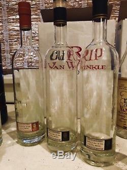 Huge Empty Bottle Collection. Bourbon Tequila And Rum. Pappy Van Winkle