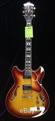 Ibanez AS153TQS Electric Guitar Tequila Sunrise Finish with Ibanez Hard Case
