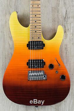 Ibanez AZ242F Premium Electric Guitar Flamed Maple Top Tequila Sunrise Gradation