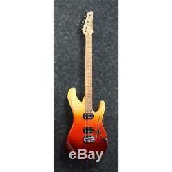 Ibanez AZ Premium Electric Guitar with Case, 24 Frets, Tequila Sunrise Gradation