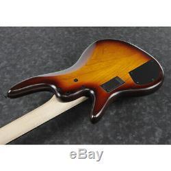 Ibanez GWB205TQF Gary Willis 5-String Bass Guitar, Tequila Sunrise Flat
