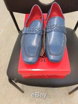 Jeffery West Men's Hand Made Croc Loafers Slip On Shoes Size UK 8.5 Tequila