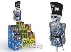 Jose Cuervo Tequila Nutcracker Display Piece Man Cave Pole Topper Sugar Skull