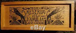 Jose Cuervo Tequila Reserva De La Familia WOOD BOX JOEL RENDON 1995