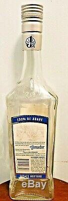 Jumbo El Jimador Tequila Huge Glass Liquor Bottle 19 Large Bar Display Rare New