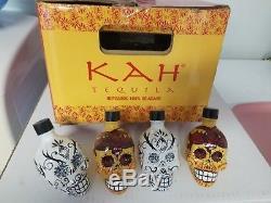KAH Tequila Dia De Los Muertos Day of Dead Skulls EMPTY 50ml Bottles LOT of 28
