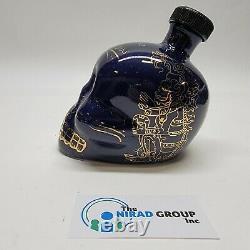 Kah Tequila Limited Edition Los Ultimos Dias 2012 Skull Bottle Blue / Gold withcap