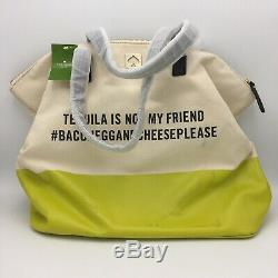 Kate Spade New York Call To Action Canvas Yellow Tote Tequila Is Not My Friend