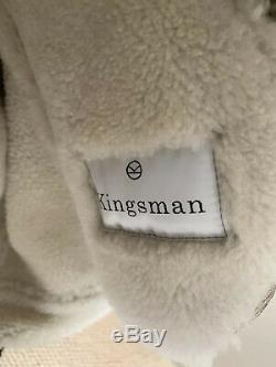 Kingsman X Mr Porter Statesman Tequila 100% Shearling Bomber Jacker New XXL