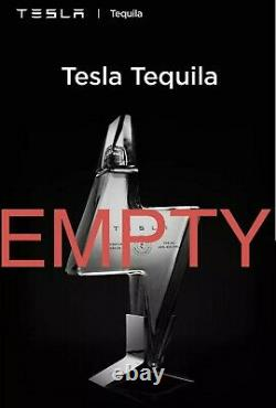 LIMITED EDITION TESLA TEQUILA Bottle and Stand (EMPTY + PRESALE) No alcohol