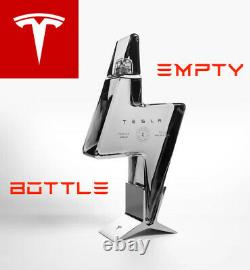 LIMITED and SOLD OUT Tesla Tequila Bottle + Stand (Pre-Sale, Empty)
