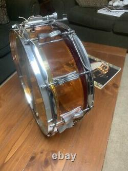 LUDWIG VINTAGE Tequila Sunrise VISTALITE SNARE DRUM In Rare D 3 Band Swirl