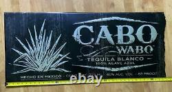 Large CABO WABO Tequila Blanco Tin Sign 40 X 17 SHIPS FREE! Man Cave Wall