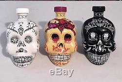 Last Set Of 3 KAH Tequila Bottles 750ml (EMPTY) Hand Selected Collector Quality
