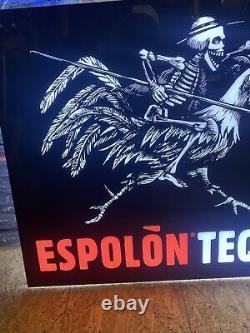 Light up espolon tequila sign skeleton rooster Alcohol Liquor