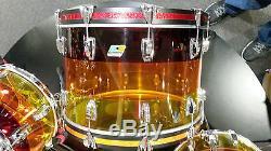 Ludwig 3pc Tequila Sunrise Vistalite Drum Kit 13-16-22