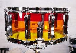Ludwig 6.5 x 14 Vistalite Tequila Sunrise Snare Drum
