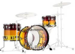 Ludwig L9223LXTSWC Vistalite 3-Piece Tequila Sunrise Drum Shell Pack