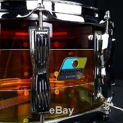 Ludwig LS903VXXTS Vistalite Series Snare Drum 6.5 x 14 Tequila Sunrise