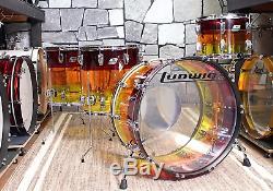 Ludwig Vistalite 4pc Shell Pack Tequila Sunrise L9244LXTSWC