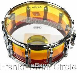 Ludwig Vistalite 6.5x14 Snare Drum Tequila Sunrise Reissue
