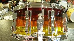 Ludwig Vistalite 6.5x14 Tequila Sunrise Snare Drum
