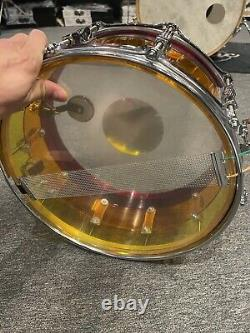 Ludwig Vistalite Tequila Sunrise 14 X 6.5 Snare Drum #641
