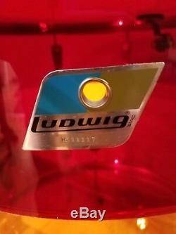 Ludwig Vistalite Tequila Sunrise 18 floor tom