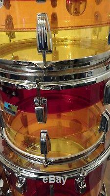 Ludwig Vistalite Tequila Sunrise 5 Piece Vintage Drum Set