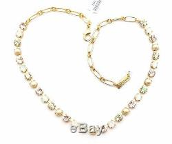MARIANA Gold Plated White with Silk & Jonquil AB Necklace 2102 Tequila Sunrise