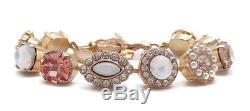 MARIANA Tequila Sunrise White Opal & Peach Mosaic Gold Swarovski Bracelet 2102