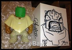 MUTTPOP RAW TEQUILA VERSION VINYL ART FIGURE SIGNED & SKETCHED BOX Super Rare