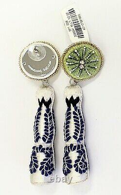 Mignonne Gavigan Tequila Bottle Beaded Embroidered Drop Earrings