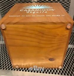 NEW CASAMIGOS TEQUILA Glass & Wood Drink Dispenser with Spigot Infusion Jar
