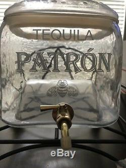 NEW Patron Tequila Glass Drink Dispenser WithSpigot RARE! Looks Like Large Bottle
