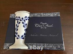 NEW Set of 2 Clase Azul Hand Painted White Blue Tequila Snifter Shot Glass 4