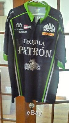 NHRA Alexis DeJoria Hand Signed Patron Tequila XXL Crew Shirt