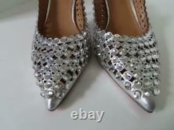 NWOB Aquazzura Silver'Tequila 105' Slingbacks/Shoes EUR 40.5/US 10 $1,595