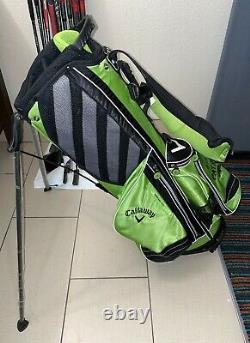 New Callaway Golf Tequila Patron Green/Black Carry Stand Bag with Rain Cover