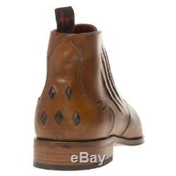 New Mens Jeffery West Tan K126 Leather Boots Chukka Lace Up
