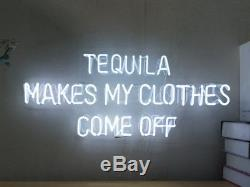 New Tequila Makes My Clothes Come Off Neon Sign Wall Decor Artwork With Dimmer